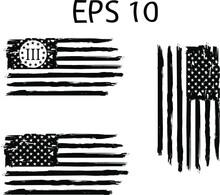 Betsy Ross 1776 13 Stars Distressed US Flag On Transparent Background. US Flag. American Flag Brush Stroke ESP 10American US Flag. EPs 10.