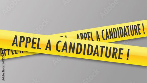 Vászonkép Logo appel à candidature.