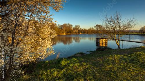 Obraz na plátne Scenic View Of Lake Against Sky