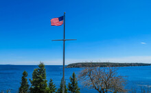 View From Owl Lighthouse In Maine