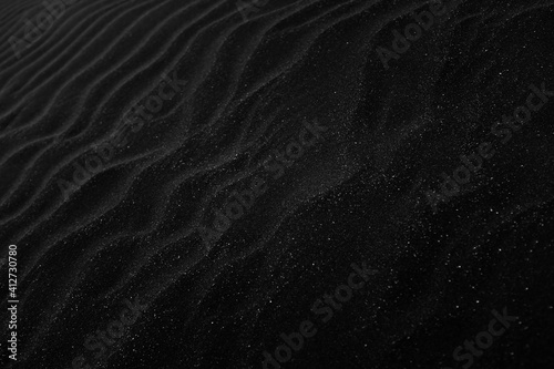 Fotografie, Obraz black sand texture background