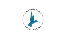 The Logo Of A Hummingbird In Flight And Flapping Its Wings, Reflecting Freedom