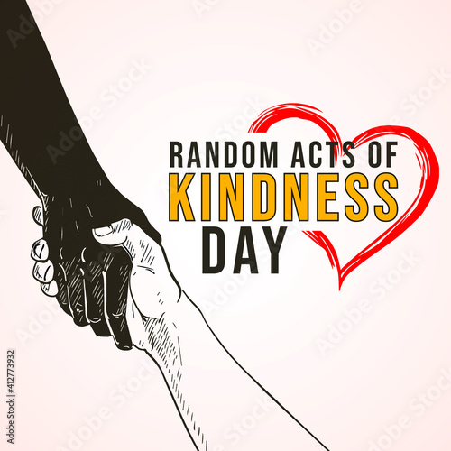Photo Random Acts of Kindness Day. hands background
