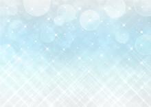 クロスフィルター風の輝きとボケ 幻想的な背景素材(水色)
