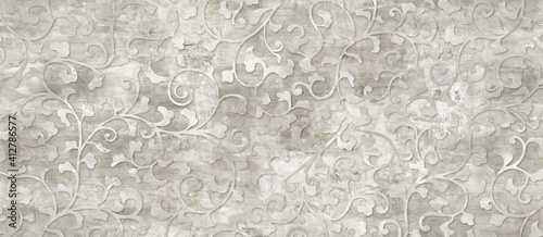 Elegant floral seamless background with flowers and leaves