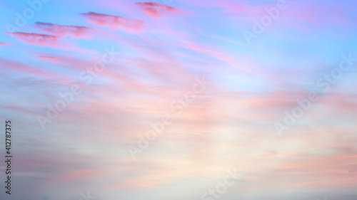 Fototapety, obrazy:  Evening sky Shine new day for Heaven,The light from heaven from the sky is a mystery,In twilight golden atmosphere,Modern sheet structure design,New Banner Business Web Template 2021 Natural colors