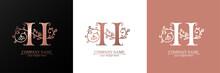Premium Vector H Logo. Monnogram, Lettering. Personal Logo Or Sign For Branding An Elite Company.