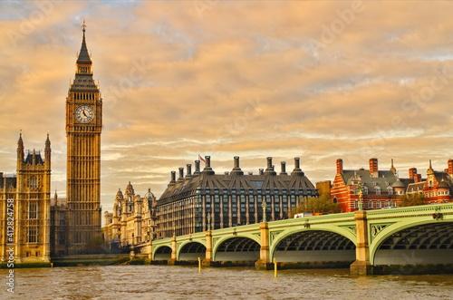London uk, big ben and houses of parliament houses of parliament city © Iliya Mitskavets