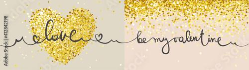 Slika na platnu Postcards for Valentine's Day