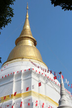 Buddhist Temple (wat Phra Kaew Don Tao) In Lampang In Thailand