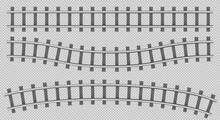 Train Rails Top View, Railway Track Construction