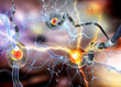 3d illustration of nerve cells, neurons, concept for Neurological Diseases, tumors and brain surgery.