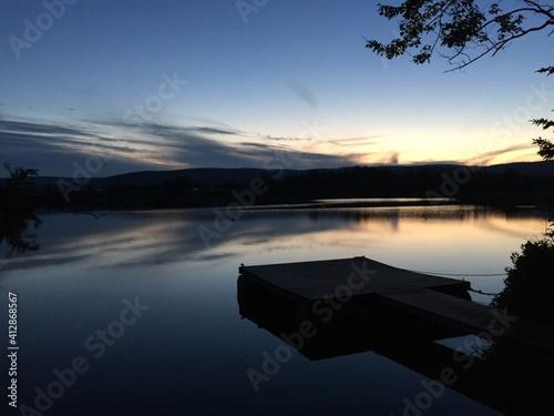 Carta da parati Scenic View Of Lake Against Sky During Sunset