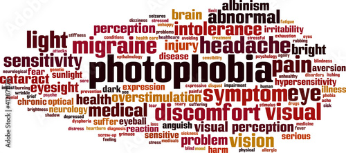 Fotografie, Obraz Photophobia word cloud