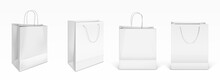 Vector Mockup Of White Paper Shopping Bags