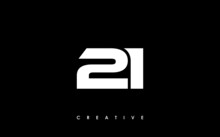 21 Letter Initial Logo Design Template Vector Illustration