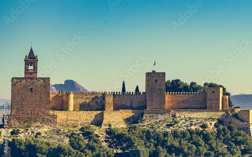 The Alcazaba fortress in Antequera, Spain. Fototapet