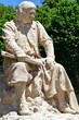 Les Andelys; France - july 2 2019 : the Nicolas Poussin statue