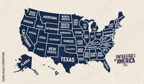 Fotografie, Obraz United States map