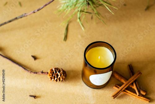 Fotografie, Obraz wooden wick candles