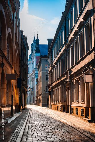 Street view of Poznan city, Poland