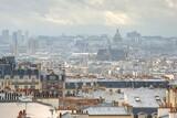 Fototapeta Fototapety Paryż - Panorama Paryża z chmurami 01