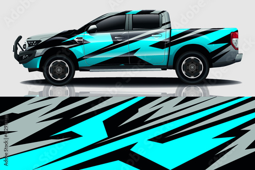 Fototapeta Car wrap graphic racing abstract background for wrap and vinyl sticker obraz na płótnie