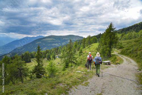 Wandern am Almbrunnsteig in Kärnten / Österreich © Henry Czauderna