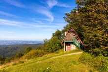 Panoramic View Of Eastern Beskidy Mountains From Gron Jana Pawla II - John Paul II Peak In Little Beskids Mountains Near Andrychow In Lesser Poland