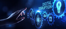 Digital Disruption Transformation Digitalization Innovation Technology Business Concept.
