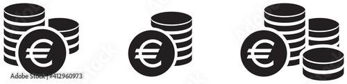 Obraz ICÔNE MONNAIE EURO - fototapety do salonu