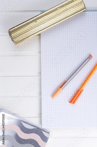 Obraz Zeszyt notes długopis zapisać - fototapety do salonu