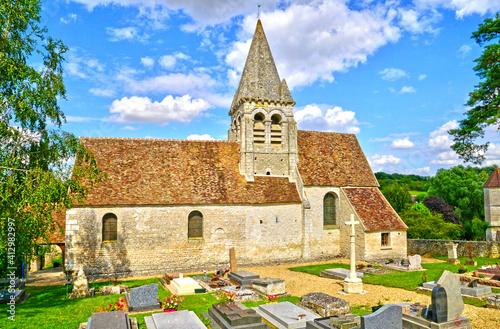 Obraz Reilly, France - april 3 2017 : saint Aubin church - fototapety do salonu
