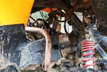 Old Rusty Machine In Car