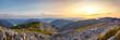 Leinwandbild Motiv Panoramic View Of Mountains Against Sky During Sunset