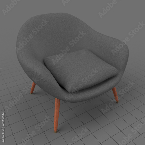 Fototapeta Modern mid century chair obraz
