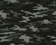 Full Seamless Camouflage Texture Skin Pattern Vector For Military Textile. Usable For Jacket Pants Shirt And Shorts. Dirty Army Camo Masking Design For Hunting Fabric Print And Wallpaper.