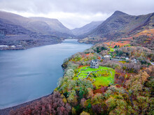 A View Of Llanberis, A Village, Community And Electoral Ward In Gwynedd, Northwest Wales