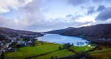 A View Of Llanberis, A Village, Community And Electoral Ward In Gwynedd, Northwest Wales