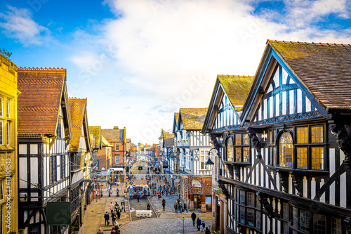Old houses of Chester, a city in northwest England,  known for its extensive Rom Fototapete