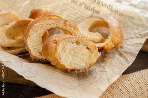 Fototapeta 塩フランスパンのラスク