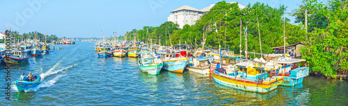 Fotografia Panorama of Negombo fishing port, Sri Lanka