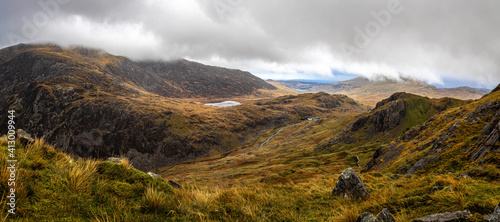 Fotografie, Obraz View of the Miners Path Snowdon in the SNowdonia National park of Wales