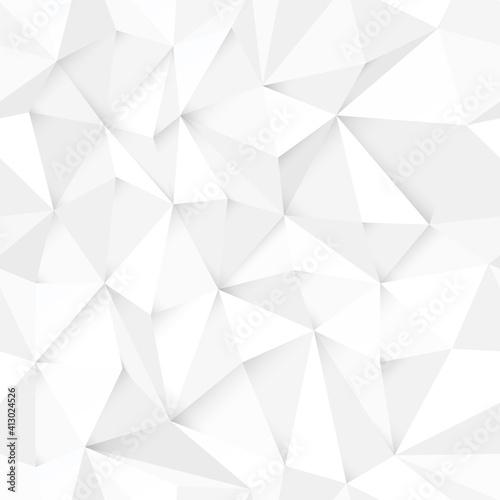 Tapety Futurystyczne  biale-tlo-wielokatne-streszczenie-monochromatyczne-bezszwowe-wektor-ilustracja