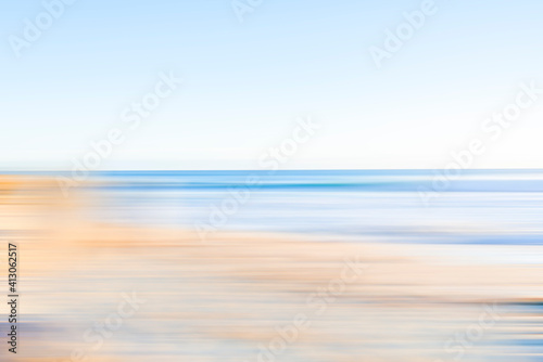 Fotomural Coastal beachside blur in soft tones