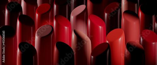 Fotografie, Obraz Full Frame Shot Of Lipsticks