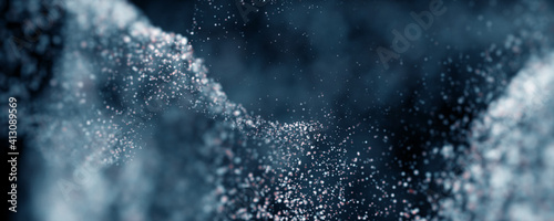 Obraz Bokeh Abstract shiny light and glitter with de focused. Glitter light background, Gold, White, Blue bokeh glitter sparkle background. Bokeh light effect creative background. - fototapety do salonu