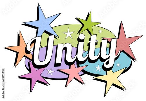 Retro mid-century modern unity label #413103996