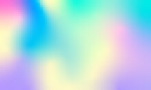 Abstract Iridescent Banner In Pastel Colors. Soft Hues Are A Classic Spring, Summer.