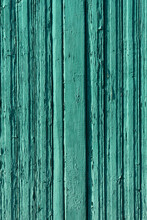 Old Wood Background. Wooden Planks Painted In Green